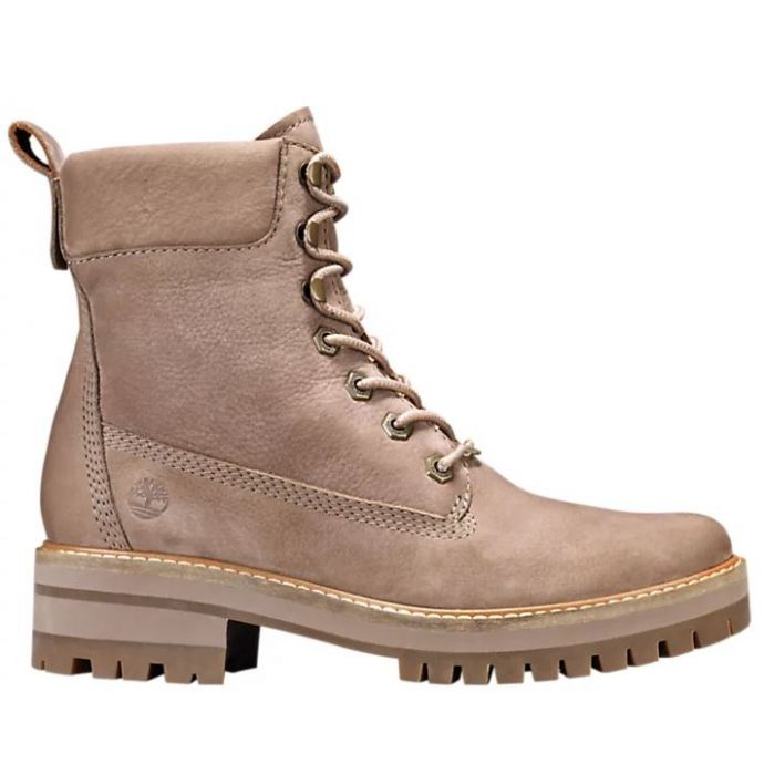 Timberland Grey Nubuck Courmayeur Valley 6 Inch Womens Boots TB0A1RQX929