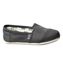 001001B07-GREY Classic Canvas Slip On