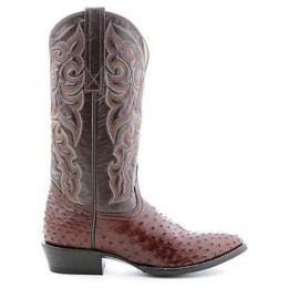 Circle G by Corral Brown Full Quill Ostrich Mens Western Boots 010260