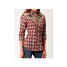 Karmen Roper Red Long Sleeve Womens Shirt 0105000240770RE