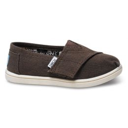 013001D13-CHOCO Chocolate Canvas Classic Children Toms