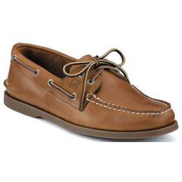 Sperry Sahara A/O 2 Eye Tie Tan Leather Mens Boat 0197640