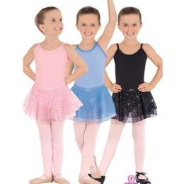 0205 Eurotard Child Sparkle Camisole Leotard with Skirt