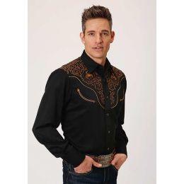 Roper Men's Caballero Yoke Western Snap Shirt 0300100400642bl
