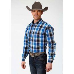 Men's Roper Plaid Button Shirt 0300103781028BU