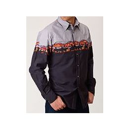 West Made by Karmen Roper Multi Color Long Sleeve Snap Shirt 0300104210780