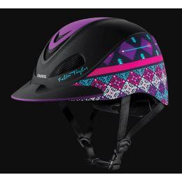 Troxel Purple Geo Fallon Taylor Riding Helmet 04-403