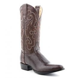 064360 Chocolate Lizard R Toe Circle G By Corral Mens Cowboy Boots
