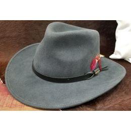 Bullhide Hats Men's Grey Voyager Premium Wool Cowboy Hat 0773GR