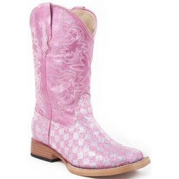 Karman/Roper Square Toe Pink Girls Boot 09-113-901-28PK