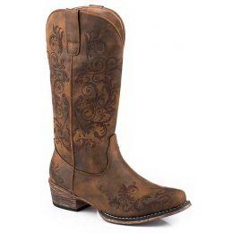 Roper Vintage Cognac Tall Stuff Womens Fashion Western Boots 09-021-1566-2179