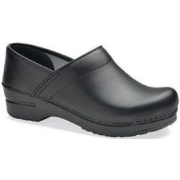 Professional WIDE Black Box Leather Clog Dansko Womens Shoes