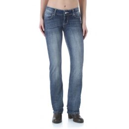Wrangler Demin MS Wash Womens Straight Leg Jeans 09MWTMS