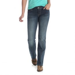 Wrangler Mid Rise Boot Cut Womens Jeans 09MWZAH