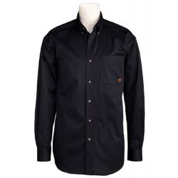 10000502 Black Twill Button Down Western Long Sleeve Ariat Mens Shirts
