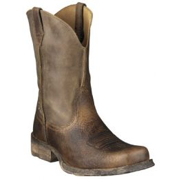 35829 Brown Bomber Rambler Square Toe Pull-On Ariat Mens Western Boots