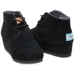 Toms Desert Wedge Black Kids Ankle Boot 10003553