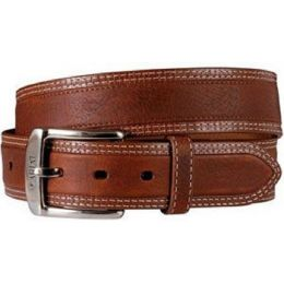 10004304 DIESEL Chili Brown Double Row Stitching Ariat Mens Belts