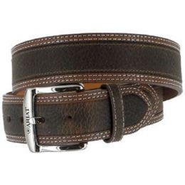 10004305 DIESEL Brown Rowdy Removable Buckle Ariat Mens Belts