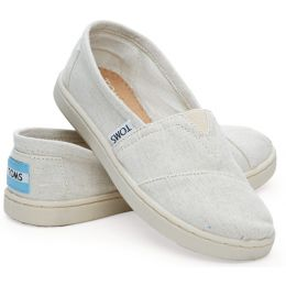 Toms Classic Chambray Cream Canvas Kids Casual 10004693