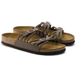Birkenstock Mocha Granada Birkibuc Womens Slide On Sandals N1000605