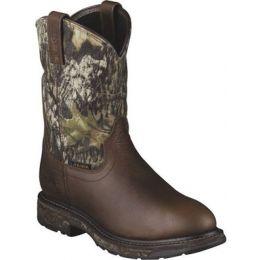 10006739 Workhog Mossy Oak Pull-On Waterproof Ariat Mens Work Boots