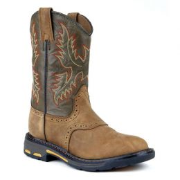 Ariat Workhog Pullon Saddle  Leather Kids Western 10007836
