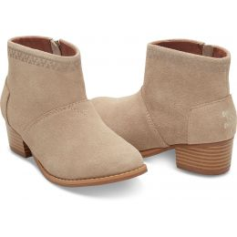Toms Leila Tan Suede Kids Ankle Boot 1009107