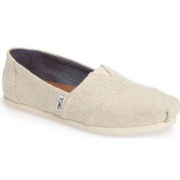 10009756 Natural Linen Alpargata Slip On Classic Womens Toms Shoes