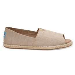 10009845 Natural Yarn Dye Womens Open Toe Espadrilles Toms Shoes