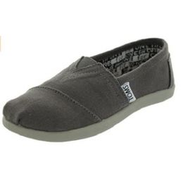 Toms Classic Slip-On Ash Grey Canvas Kids Casual 10010528-012001C13