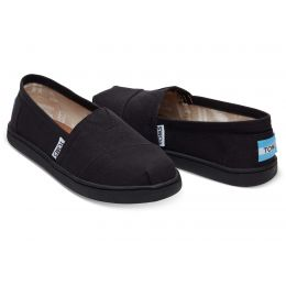 Toms Classic Slip-On Black Canvas Kids Casual 10010530