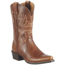 Ariat Heritage X Toe Mid Brown Leather Kids Western 10010912