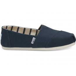 Toms Majolica Blue Heritage Canvas Womens Classic Shoes 10011671
