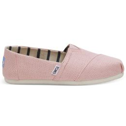 Toms Powder Pink Heritage Canvas Womens Classic Slip-On Shoes 10011677
