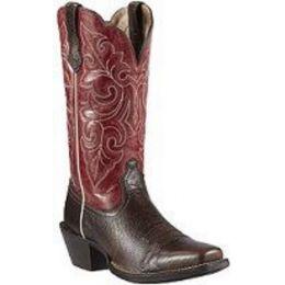 10011890 ROUND UP Brown Ariat Womens Western Cowboy Boots