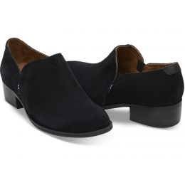 Toms Black Suede Womens Shaye Booties 10012283