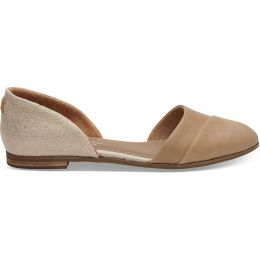 Toms Honey Jutti D'Orsay Leather Metaliic Woven Womens Flats 10012402