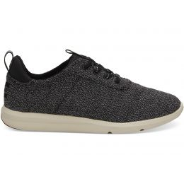 Toms Black Terry Cloth Cabrillo Womens Comfort Sneaker 10012420