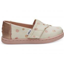 Toms Pale Blush Party Dots Tiny Toms Classic Shoes 10012580