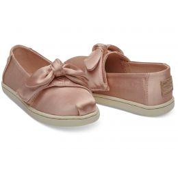 Toms Rose Cloud Satin Bow Tiny Toms Classics Shoes 10012601