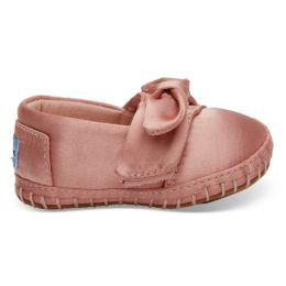 Toms Rose Cloud Satin Bow Tiny Toms Girls Crib Alpargatas 10012603-PNK