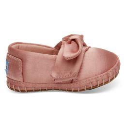 Toms Rose Cloud Satin Bow Tiny Toms Girls Crib Alpargatas 10012603-PNK