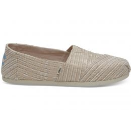 Toms Oxford Tan Abstract Jacquard Womens Classic Shoes 10012645