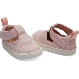 Toms Pink Canvas Early Walker Toddler Joon Flats 10013302