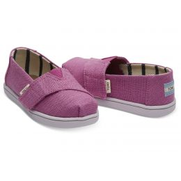 Toms Rose Violet Heritage Canvas Tiny Classic Toddler Shoes 10013314