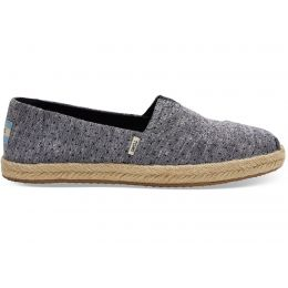 Toms Black Tiny Chambray Dots Womens Espadrilles Shoes 10013523