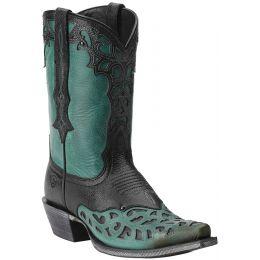 10014097 Vera Cruz Overlay Snip Toe Ariat Womens Western Cowboy Boots