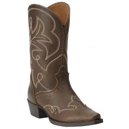 Ariat Spellbound Snip Toe Brown Leather Kids Western 10014123