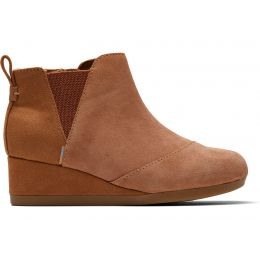 Toms Carmel Brown Suede Youth Kelsey Booties 10014332